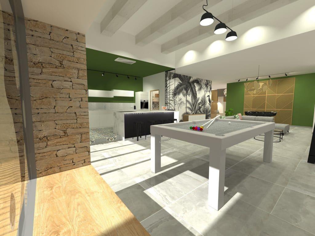 rénovation-travaux-architecte-mauguio-decoratateur-architectedinterieur-montpellier-cuisine-amenagement-ilot-chene-ameublement-surmesure-billard-herault-miele-travaux-construction-rochebobois-flos-etoffe-viticole-babyfoot-pierre