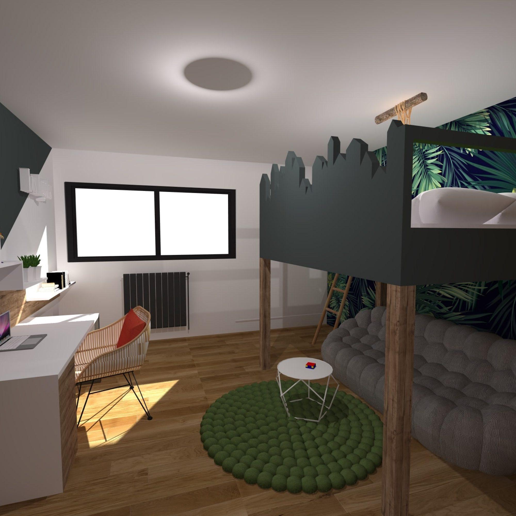 chambre-garcon-jungle-parquet-sur-mesure-roche-bobois-jeremy-dugas-montpellier-decoration